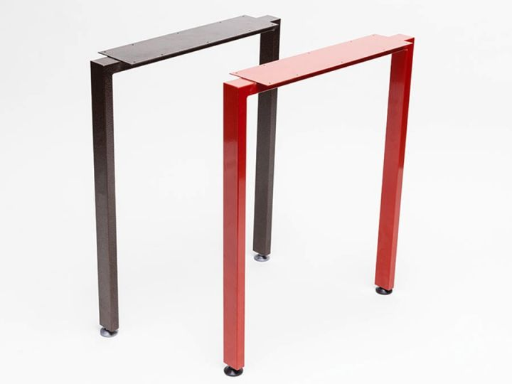 """Double"" table legs."